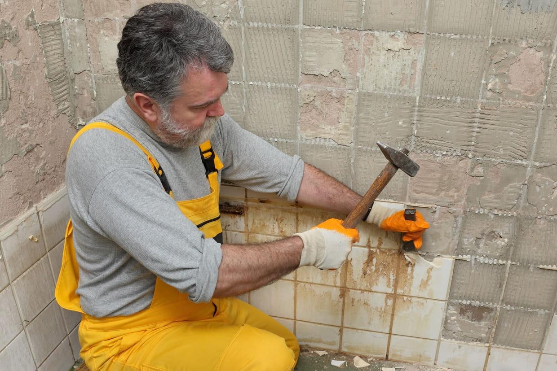 enlever carrelage beton