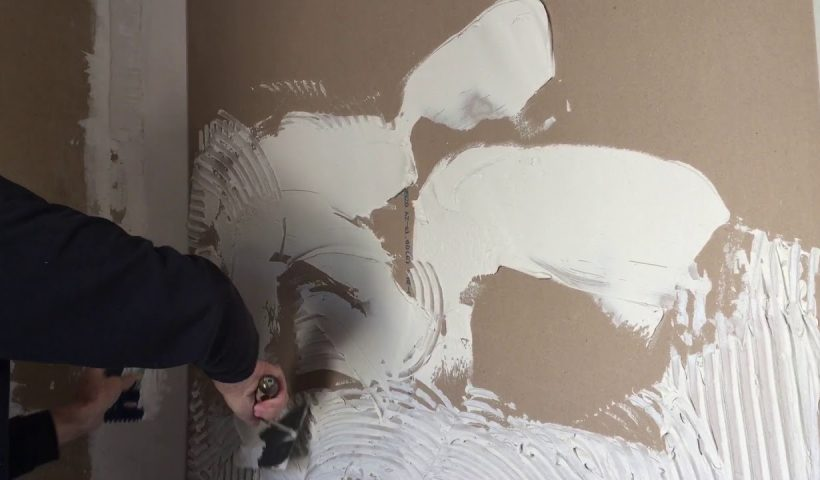 reparer son mur placo apres carrelage